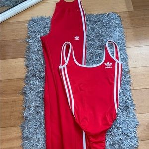 Matching track suit